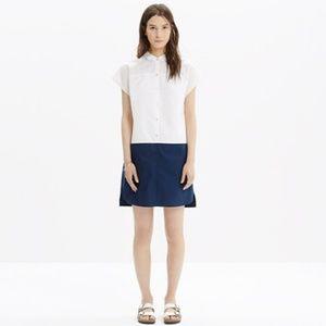 Madewell Vista Shirtdress in Colorblock